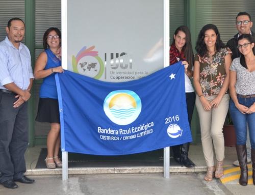UCI recibe  entrega del Galardón Bandera Azul Ecológica en la categoría de Cambio Climático correspondiente al año 2016.